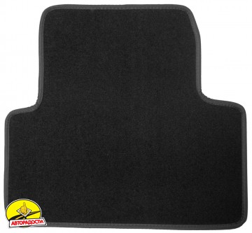 Коврики в салон для Opel Zafira Tourer '12-  текстильные, черные (Люкс) 1+2+3 ряд