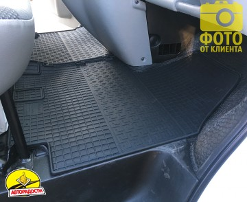 Коврики в салон для Opel Vivaro '01-14, резиновые (PolyteP)