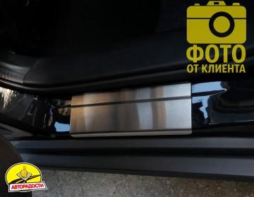 Накладки на пороги для Suzuki SX4 '13- (Standart)
