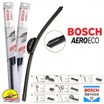 Щетки стеклоочистителя бескаркасные Bosch AeroEco 700 и 650 мм. (набор)