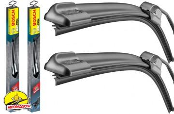 Щетки стеклоочистителя бескаркасные Bosch AeroTwin Retrofit 600 и 475 мм. (набор)