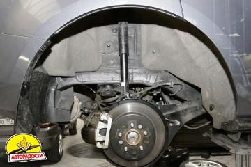 Подкрылок задний левый для Mitsubishi Lancer X (10) Sportback '07- (Novline)