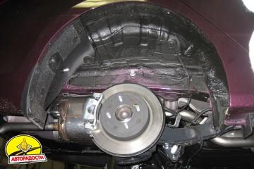 Подкрылок задний левый для Hyundai Accent (Solaris) '11-, седан (Novline)