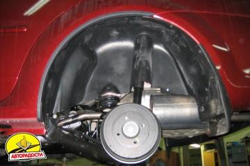 Подкрылок задний левый для Renault Logan '04-12 (Novline)
