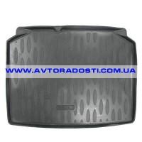 Коврик в багажник для Skoda Fabia II '07-14 хетчбэк, полиуретановый (Aileron)