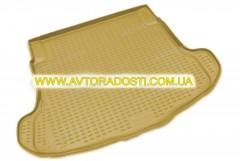 Коврик в багажник для Honda Accord 7 '03-08 седан, полиуретановый (Novline / Element) бежевый