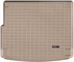 Коврик в багажник для Porsche Cayenne '10-17 (с сабвуфером), резиновый (WeatherTech) бежевый