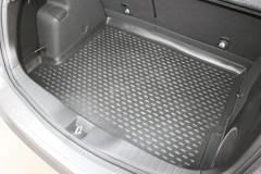 Коврик в багажник для Honda Civic 5D '12-, полиуретановый, черный, с сабв. (Novline / Element)