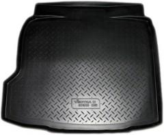 Коврик в багажник для Opel Vectra C '02-08 седан/хетчбэк, полиуретановый черный (Nor-Plast)