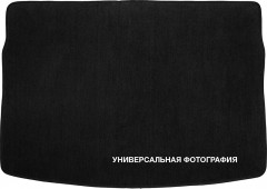 Коврик в багажник для Fiat Doblo Panorama '01-09, 5 мест, текстильный черный