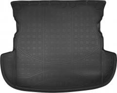 Коврик в багажник для Mitsubishi Outlander '12-, (без органайзера), полиуретановый (NorPlast) черный