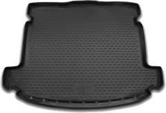 Коврик в багажник для Kia Carens '13- (5 мест), полиуретановый (Novline / Element) черный