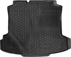 Коврик в багажник для Volkswagen Polo '10- седан, резиновый (AVTO-Gumm)