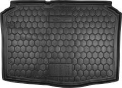 Коврик в багажник для Skoda Fabia II '07-14 хетчбэк, резиновый (AVTO-Gumm)