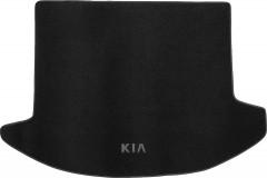 Коврик в багажник для Kia Carens '07-12 5 мест, текстильный черный