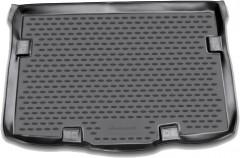 Коврик в багажник для Suzuki SX4 '10-14 хетчбэк (нижний), полиуретановый (Novline / Element) черный