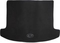 Коврик в багажник для Kia Carens '13- (5 мест), текстильный черный