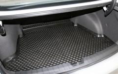 Фото 2 - Коврик в багажник для Hyundai i40 '12- седан, полиуретановый (Novline) черный