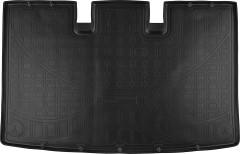 Коврик в багажник для Volkswagen Transporter T5/T6 '03-, Caravelle, полиуретановый (NorPlast) черный