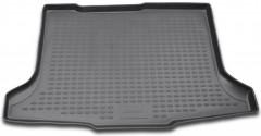 Коврик в багажник для Suzuki SX4 '06-14 хетчбэк, полиуретановый (Novline / Element) серый