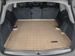Коврик в багажник для Audi Q7 '05-14, резиновый (WeatherTech) бежевый