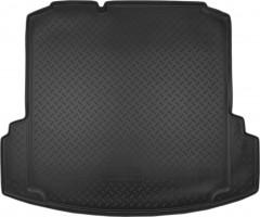 """Коврик в багажник для Volkswagen Jetta VI '10-, с """"ушами"""", полиуретановый (NorPlast) черный"""