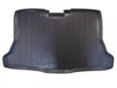 Коврик в багажник для Nissan Tiida '05-14 хетчбэк, полиуретановый (Novline / Element) серый