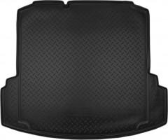 """Коврик в багажник для Volkswagen Jetta VI '10-, с """"ушами"""", резино/пластиковый (NorPlast) черный"""