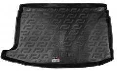 Коврик в багажник для Volkswagen Polo '09-17 хетчбэк, верхний, резиновый (Lada Locker)