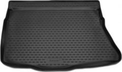 Коврик в багажник для Kia Ceed '12- хетчбэк без органайзера, полиуретановый (Novline / Element) черный