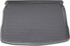 Коврик в багажник для Volkswagen Golf VI '09-12 хетчбэк, с полноразмерным зап. колесом, полиуретановый (Novline / Element) черны
