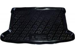 Коврик в багажник для Hyundai Accent (Solaris) '11-17 хетчбэк, резино/пластиковый (Lada Locker)