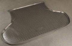 Коврик в багажник для Lada (Ваз) 2110 седан, полиуретановый (NorPlast) черный