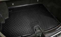 Коврик в багажник для Mercedes GLK-Class X204 '09-15, полиуретановый, с вырезом под ручку (Novline / Element) черный