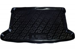 Коврик в багажник для Hyundai Accent (Solaris) '11-17 хетчбэк, резиновый (Lada Locker)