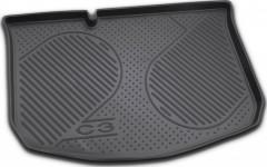 Коврик в багажник для Citroen C3 '02-09, полиуретановый (Novline)