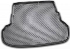 Коврик в багажник для Kia Rio '11-15 седан, полиуретановый (Novline) черный