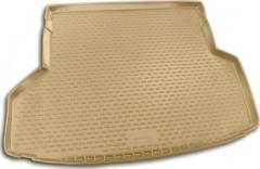 Коврик в багажник для Toyota Highlander '07-13, длинный, полиуретановый (Novline / Element) бежевый