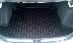 Коврик в багажник для Volkswagen Polo '10- седан, полиуретановый (Aileron) черный