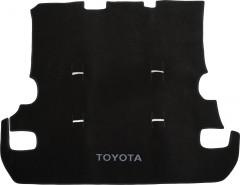 Коврик в багажник для Toyota Land Cruiser 200 '07- (7 мест), текстильный черный