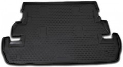 Коврик в багажник для Toyota Land Cruiser 200 '07- (7 мест), полиуретановый (Novline / Element) черный