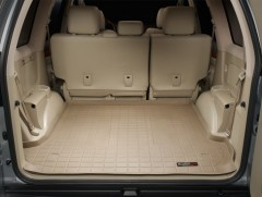 Коврик в багажник для Toyota LC Prado 120 '03-09, резиновый (WeatherTech) бежевый