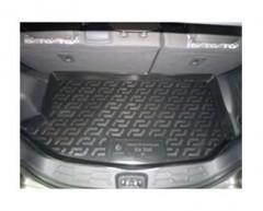 Коврик в багажник для Kia Soul '09-13 (верхний), резиновый (Lada Locker)