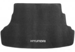 Коврик в багажник для Hyundai Accent (Solaris) 2011-, седан, не складывающееся зад. сидение, текстильный черный