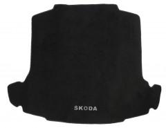 Коврик в багажник для Skoda Rapid '13-, текстильный черный