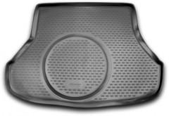 Коврик в багажник для Kia Cerato '13-17 седан, с полноразмерным зап. колесом, полиуретановый (Novline / Element) черный