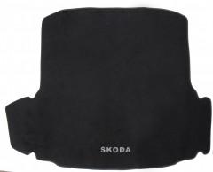 Коврик в багажник для Skoda Octavia A7 '13- седан, текстильный черный