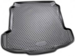 Коврик в багажник для Volkswagen Polo '10- седан, полиуретановый (Novline / Element) черный
