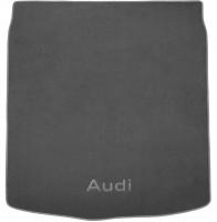 Коврик в багажник для Audi A6 '14- седан, текстильный серый (Премиум)