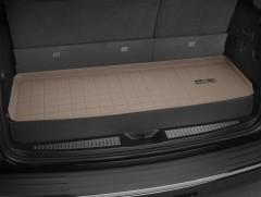 Коврик в багажник для Audi Q7 '15-, короткий, резиновый, (WeatherTech) бежевый